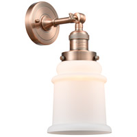Innovations Lighting 203-AC-G181-LED Canton LED 7 inch Antique Copper Sconce Wall Light Franklin Restoration