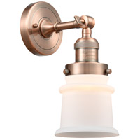 Innovations Lighting 203-AC-G181S-LED Small Canton LED 7 inch Antique Copper Sconce Wall Light Franklin Restoration