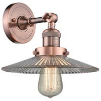 Innovations Lighting 203-AC-G2-LED Halophane LED 9 inch Antique Copper Sconce Wall Light Franklin Restoration