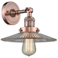 Innovations Lighting 203-AC-G2 Halophane 1 Light 9 inch Antique Copper Sconce Wall Light Franklin Restoration