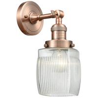 Innovations Lighting 203-AC-G302-LED Colton LED 6 inch Antique Copper Sconce Wall Light Franklin Restoration