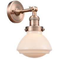 Innovations Lighting 203-AC-G321 Olean 1 Light 7 inch Antique Copper Sconce Wall Light Franklin Restoration
