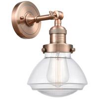 Innovations Lighting 203-AC-G322 Olean 1 Light 7 inch Antique Copper Sconce Wall Light Franklin Restoration