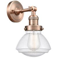 Innovations Lighting 203-AC-G324 Olean 1 Light 7 inch Antique Copper Sconce Wall Light Franklin Restoration