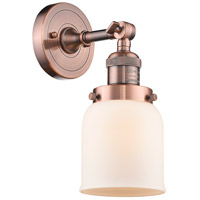 Innovations Lighting 203-AC-G51 Small Bell 1 Light 5 inch Antique Copper Wall Sconce Wall Light Small Bell