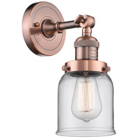 Innovations Lighting 203-AC-G52 Small Bell 1 Light 5 inch Antique Copper Sconce Wall Light Franklin Restoration