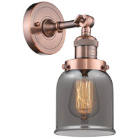 Innovations Lighting 203-AC-G53-LED Small Bell LED 5 inch Antique Copper Sconce Wall Light Franklin Restoration