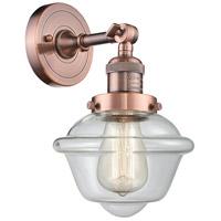 Innovations Lighting 203-AC-G532 Small Oxford 1 Light 8 inch Antique Copper Sconce Wall Light Franklin Restoration