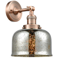 Innovations Lighting 203-AC-G78-LED Large Bell LED 8 inch Antique Copper Sconce Wall Light