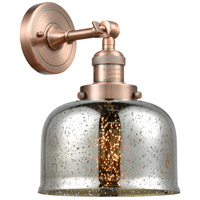 Innovations Lighting 203-AC-G78 Large Bell 1 Light 8 inch Antique Copper Sconce Wall Light