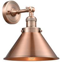 Innovations Lighting 203-AC-M10-AC-LED Briarcliff LED 10 inch Antique Copper Wall Sconce Wall Light