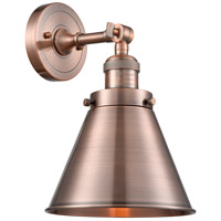 Innovations Lighting 203-AC-M13-AC-LED Appalachian LED 8 inch Antique Copper Sconce Wall Light Franklin Restoration
