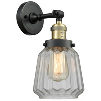 Innovations Lighting 203-BAB-G142 Chatham 1 Light 6 inch Black Antique Brass Sconce Wall Light
