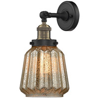 Innovations Lighting 203-BAB-G146-LED Chatham LED 6 inch Black Antique Brass Sconce Wall Light
