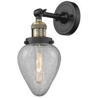Innovations Lighting 203-BAB-G165-LED Geneseo LED 7 inch Black Antique Brass Sconce Wall Light Franklin Restoration