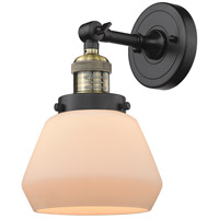 Innovations Lighting 203-BAB-G171-LED Fulton LED 7 inch Black Antique Brass Sconce Wall Light