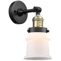 Innovations Lighting 203-BAB-G181S Small Canton 1 Light 7 inch Black Antique Brass Sconce Wall Light Franklin Restoration