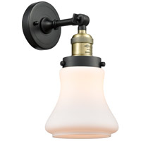 Innovations Lighting 203-BAB-G191-LED Bellmont LED 7 inch Black Antique Brass Sconce Wall Light Franklin Restoration