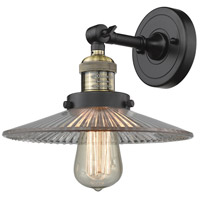 Innovations Lighting 203-BAB-G2-LED Halophane LED 9 inch Black Antique Brass Sconce Wall Light Franklin Restoration