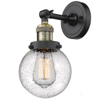 Innovations Lighting 203-BAB-G204-6 Beacon 1 Light 6 inch Black Antique Brass Sconce Wall Light