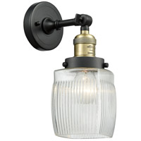 Innovations Lighting 203-BAB-G302-LED Colton LED 6 inch Black Antique Brass Sconce Wall Light Franklin Restoration