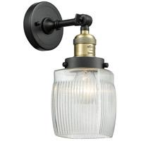 Innovations Lighting 203-BAB-G302-LED Colton LED 6 inch Black Antique Brass Sconce Wall Light, Franklin Restoration
