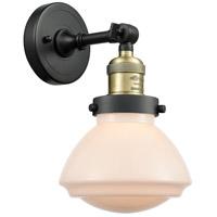 Innovations Lighting 203-BAB-G321 Olean 1 Light 7 inch Black Antique Brass Sconce Wall Light Franklin Restoration