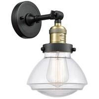 Innovations Lighting 203-BAB-G322 Olean 1 Light 7 inch Black Antique Brass Sconce Wall Light Franklin Restoration
