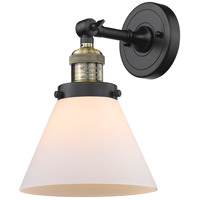 Innovations Lighting 203-BAB-G41-LED Large Cone LED 8 inch Black Antique Brass Sconce Wall Light