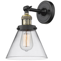 Innovations Lighting 203-BAB-G42-LED Large Cone LED 8 inch Black Antique Brass Sconce Wall Light