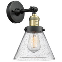 Innovations Lighting 203-BAB-G44 Large Cone 1 Light 8 inch Black Antique Brass Sconce Wall Light