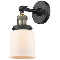 Innovations Lighting 203-BAB-G51-LED Small Bell LED 5 inch Black Antique Brass Sconce Wall Light