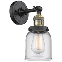 Innovations Lighting 203-BAB-G52 Small Bell 1 Light 5 inch Black Antique Brass Sconce Wall Light Franklin Restoration