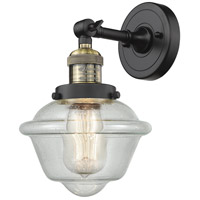 Innovations Lighting 203-BAB-G534 Small Oxford 1 Light 8 inch Black Antique Brass Sconce Wall Light