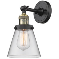 Innovations Lighting 203-BAB-G62 Small Cone 1 Light 6 inch Black Antique Brass Sconce Wall Light