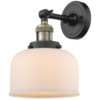 Innovations Lighting 203-BAB-G71-LED Large Bell LED 8 inch Black Antique Brass Sconce Wall Light