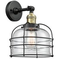 Innovations Lighting 203-BAB-G72-CE-LED Large Bell Cage LED 9 inch Black Antique Brass Sconce Wall Light Franklin Restoration