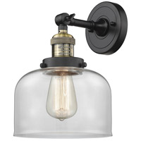 Innovations Lighting 203-BAB-G72-LED Large Bell LED 8 inch Black Antique Brass Sconce Wall Light