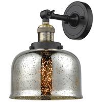 Innovations Lighting 203-BAB-G78-LED Large Bell LED 8 inch Black Antique Brass Sconce Wall Light Franklin Restoration