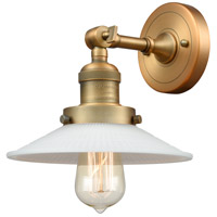 Innovations Lighting 203-BB-G1 Halophane 1 Light 9 inch Brushed Brass Sconce Wall Light Franklin Restoration