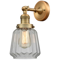 Innovations Lighting 203-BB-G142-LED Chatham LED 6 inch Brushed Brass Sconce Wall Light