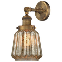 Innovations Lighting 203-BB-G146-LED Chatham LED 6 inch Brushed Brass Sconce Wall Light