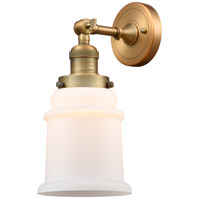Innovations Lighting 203-BB-G181-LED Canton LED 7 inch Brushed Brass Sconce Wall Light Franklin Restoration