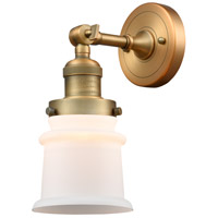 Innovations Lighting 203-BB-G181S-LED Small Canton LED 7 inch Brushed Brass Sconce Wall Light Franklin Restoration