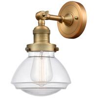 Innovations Lighting 203-BB-G322 Olean 1 Light 7 inch Brushed Brass Sconce Wall Light Franklin Restoration