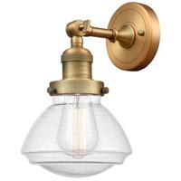 Innovations Lighting 203-BB-G324 Olean 1 Light 7 inch Brushed Brass Sconce Wall Light Franklin Restoration
