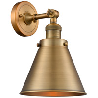 Innovations Lighting 203-BB-M13-BB Appalachian 1 Light 8 inch Brushed Brass Sconce Wall Light Franklin Restoration