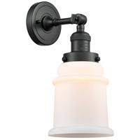 Innovations Lighting 203-BK-G181-LED Canton LED 7 inch Matte Black Sconce Wall Light Franklin Restoration