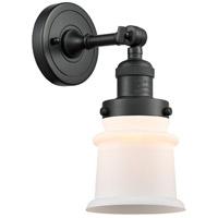 Innovations Lighting 203-BK-G181S-LED Small Canton LED 7 inch Matte Black Sconce Wall Light Franklin Restoration
