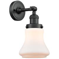Innovations Lighting 203-BK-G191-LED Bellmont LED 7 inch Matte Black Sconce Wall Light Franklin Restoration